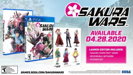 PS4《新樱花大战》欧美版4月28日发售 送主角贴纸