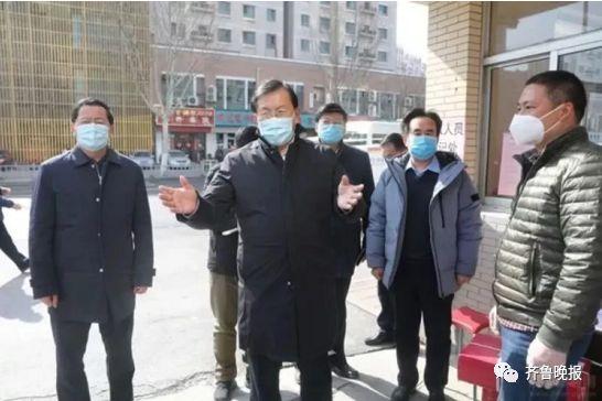 2020年2月11日,王忠林在济南检查疫情防控工作。(济南市政府网站)