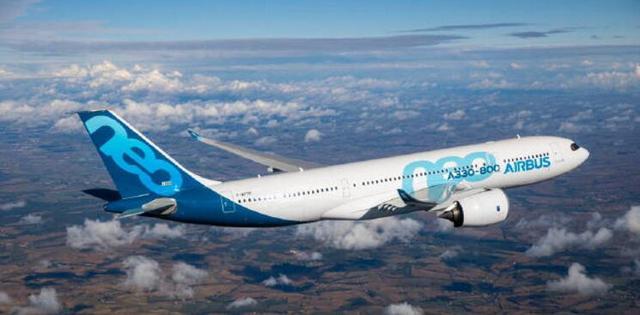 空客A330-800客机获ESEA与FAA认证 首机或于年中交付