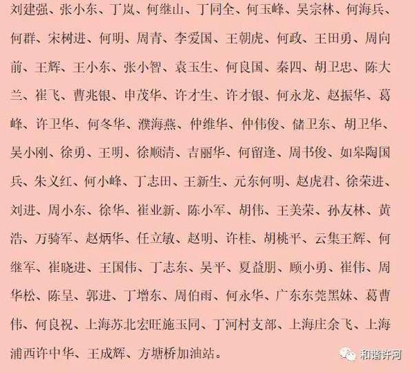 鸡蛋捐赠者名单。图片由吴宗林提供