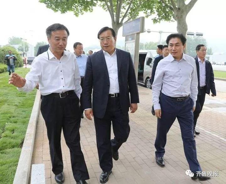 2018年5月12日,王忠林就任济南市委书记后调研城市提升工程进展情况 。(资料片)
