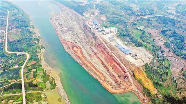 嘉陵江利泽航运枢纽建设有序推进