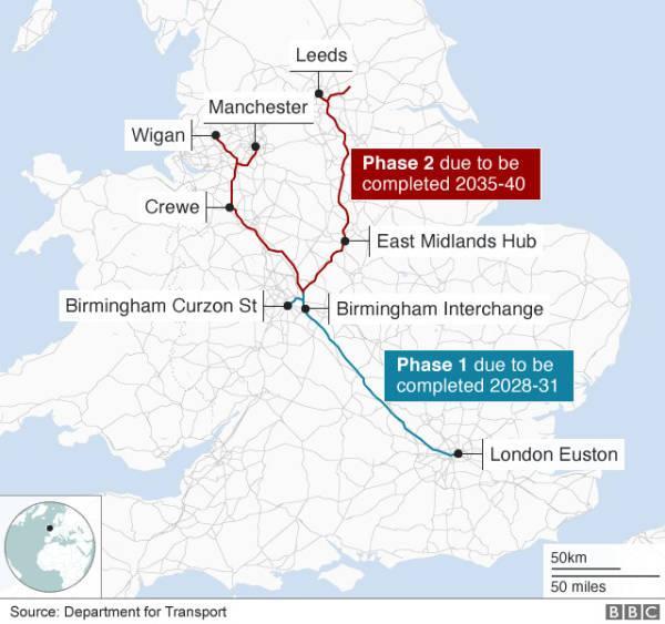 英国12年还没建好的高铁网,正考虑让中企加入