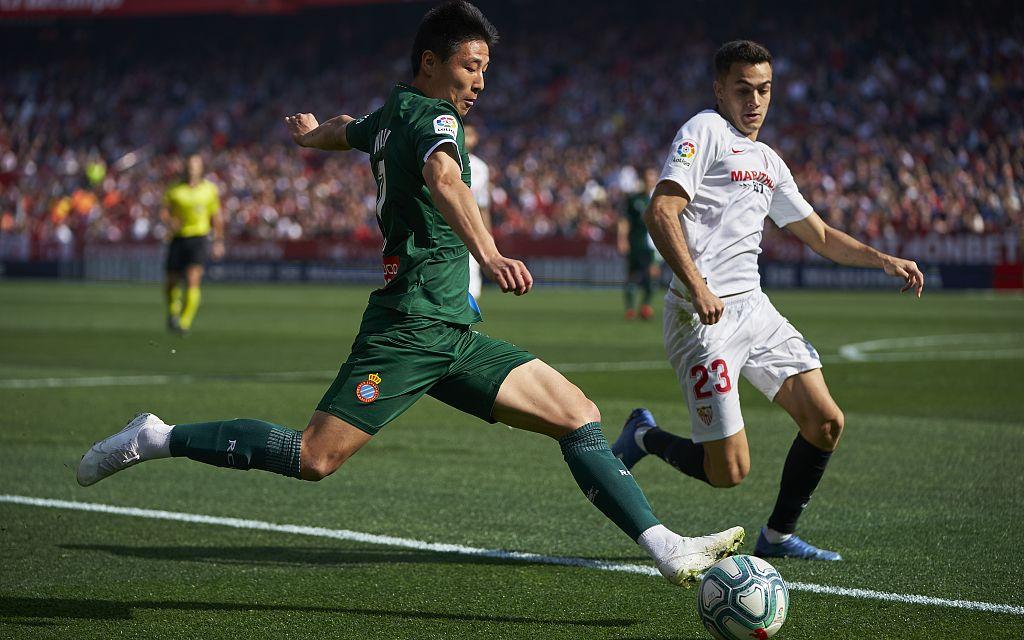 武磊重回首发就进球,西班牙人战平西甲第五图片
