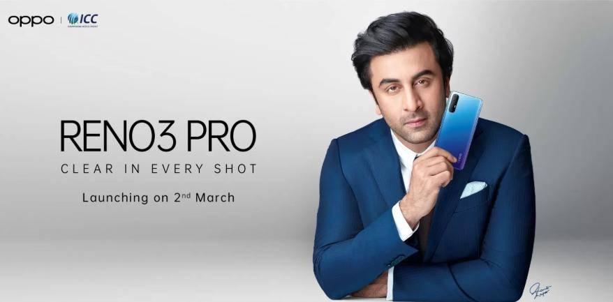 前置4000万像素双摄 Reno3 Pro印度版将发售