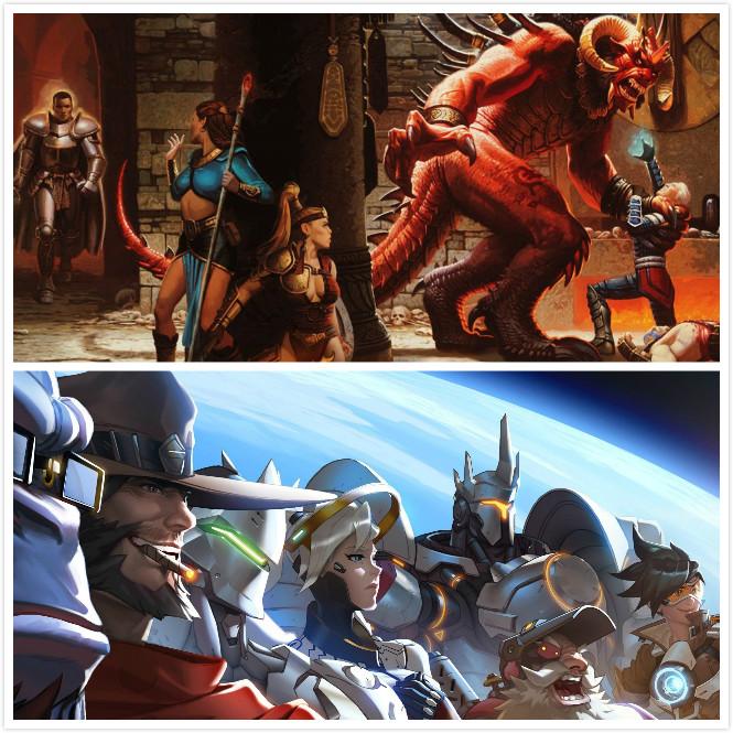 暴雪游戏《守望先锋》和《暗黑破坏神》将改编为动