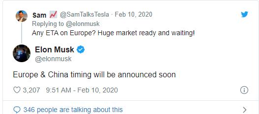 马斯克:将在中国和欧洲拓展太阳