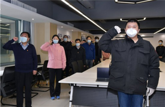 """【战地日记】在""""抗疫""""一线,他们光荣加入中国共产党"""