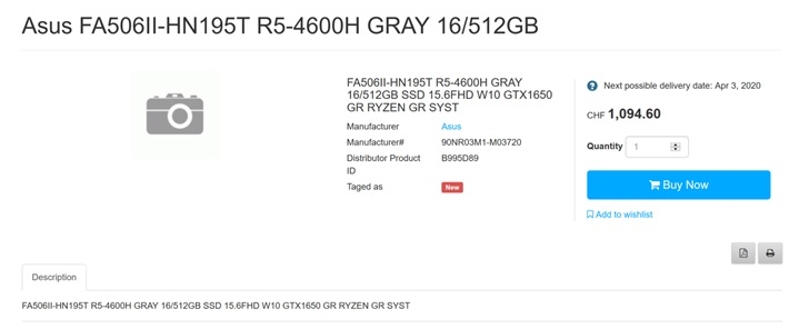 华硕新款游戏本售价曝光:R7 4800H+GTX 1650