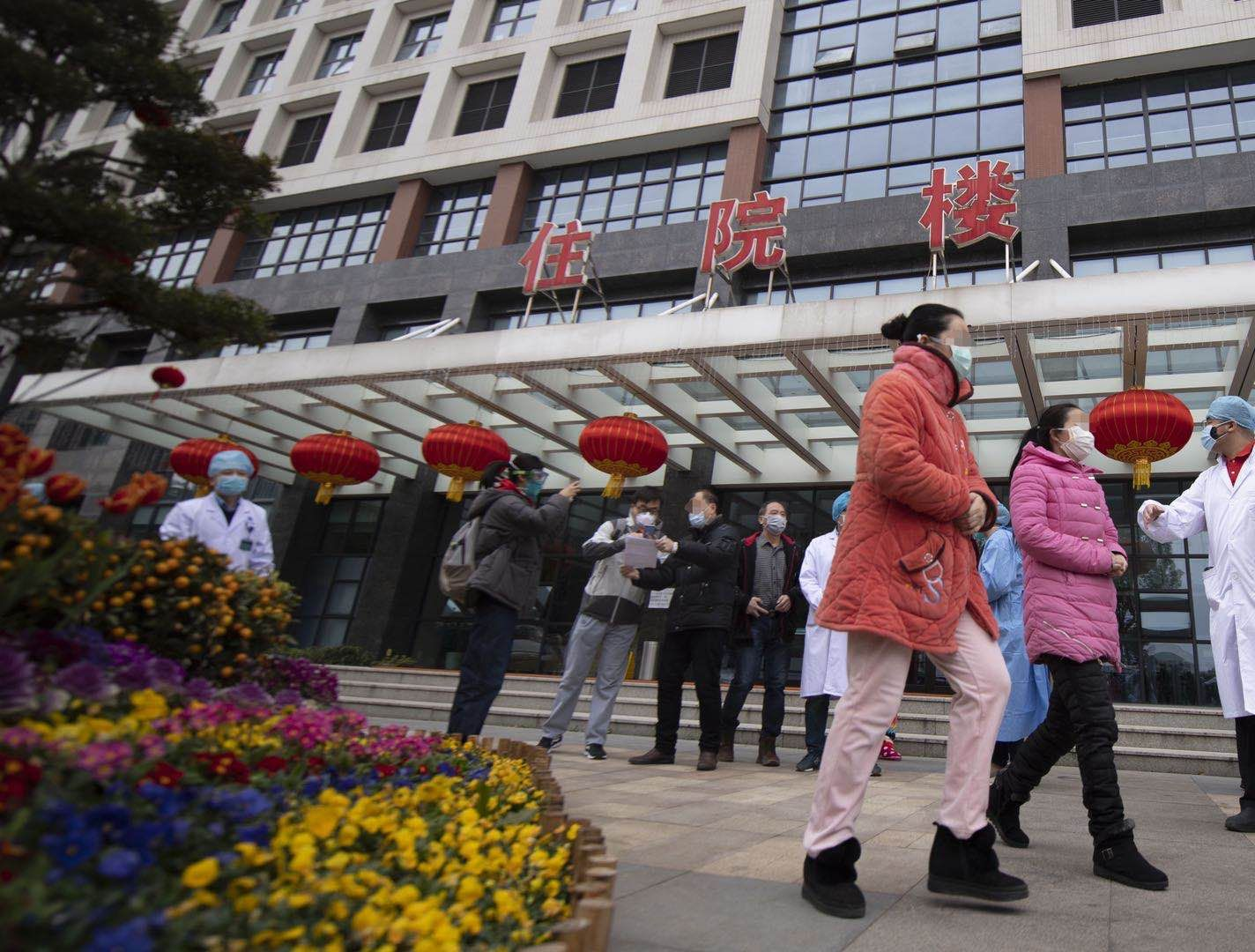 武汉协和医院西院31名新冠肺炎重症患者治愈出院图片