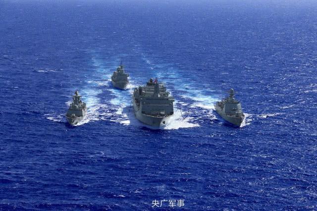 这才是蓝水海军的底气!国产大补能力强悍,一次喂饱一支舰队