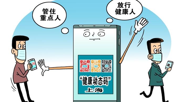 """今天你是什么颜色?亮出这个二维码,上海为你""""开绿灯""""图片"""