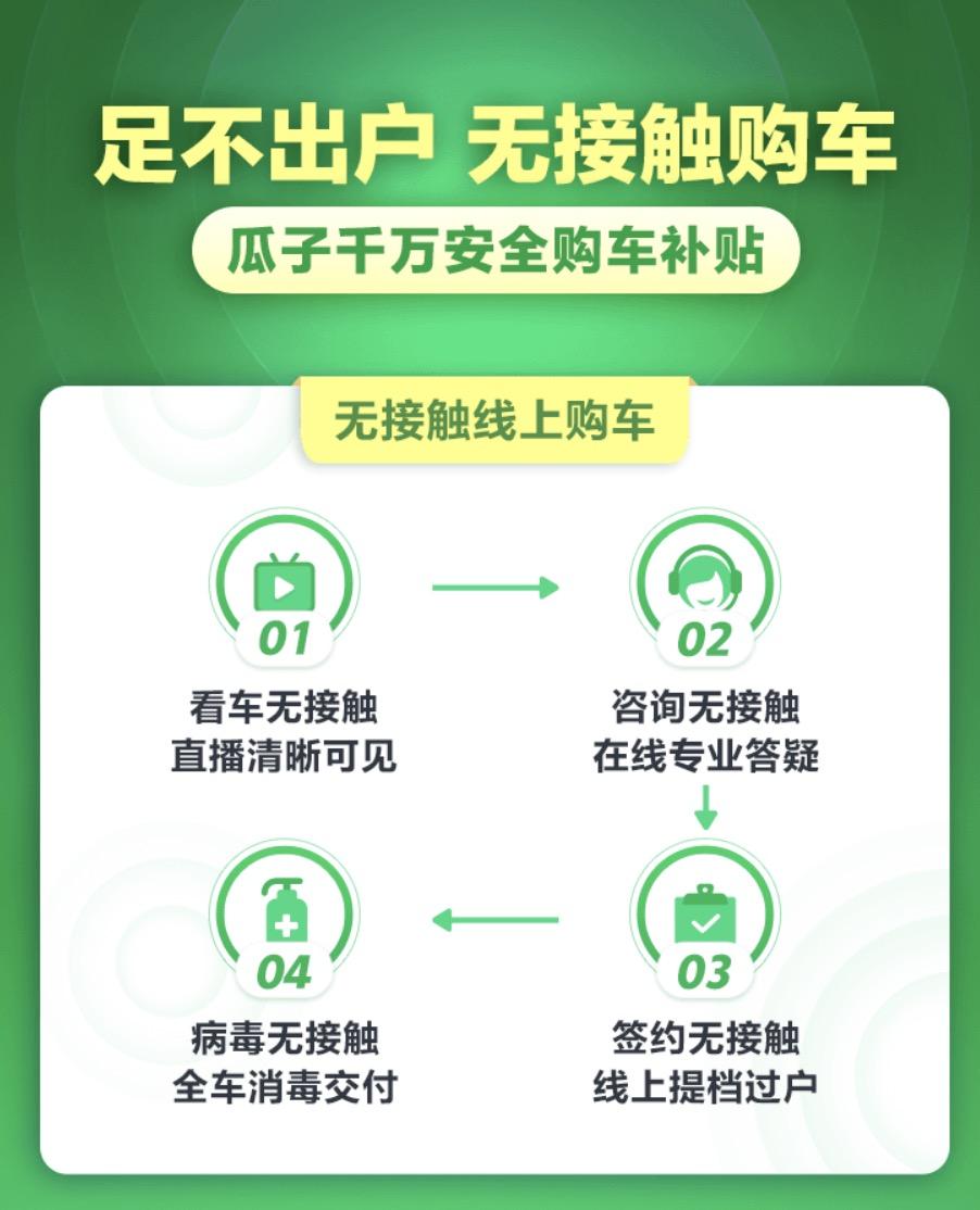 """瓜子二手车上线""""无接触购车"""",平台售车增加专业消毒"""