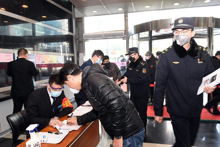 海淀城管检查全区商务楼宇疫情防控|组图图片