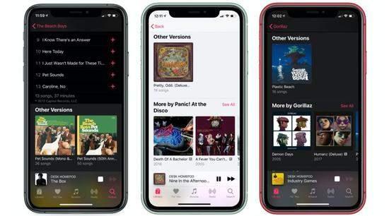 """Apple Music通过显示""""其他版本""""来升级专辑曲目"""