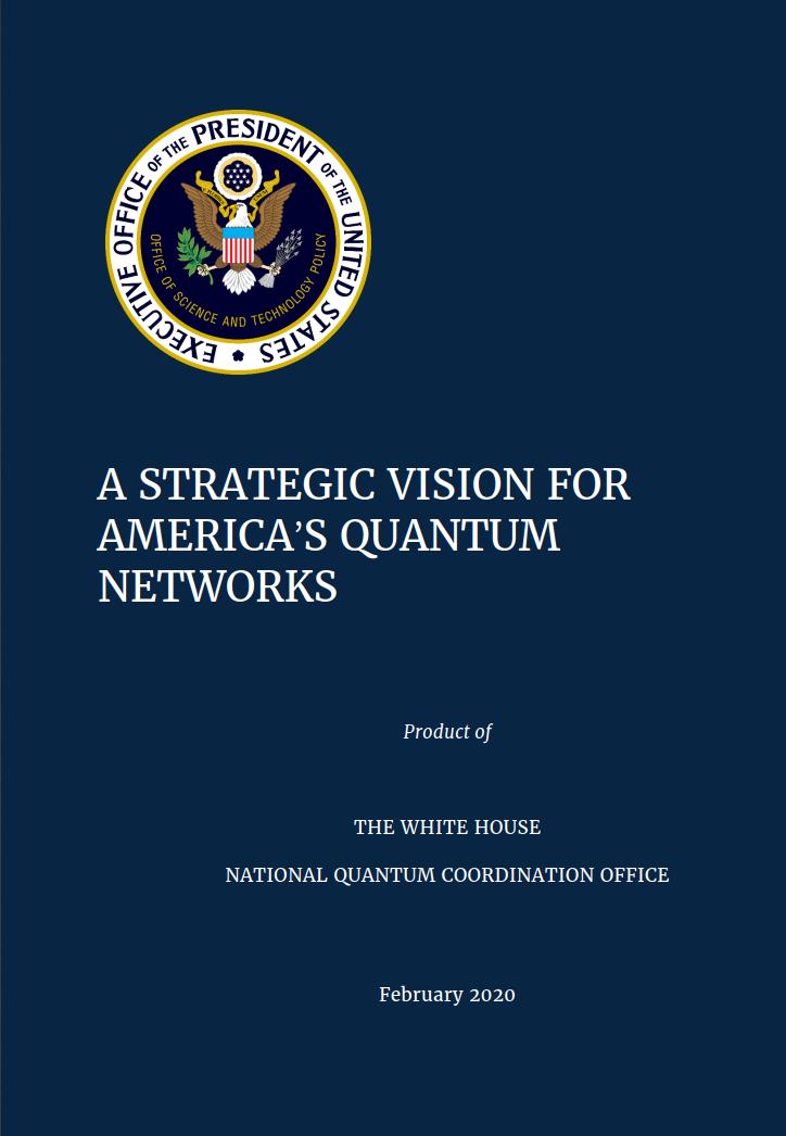 白宫发布战略构想:美国曾首创计算机网络,现要开辟量子网