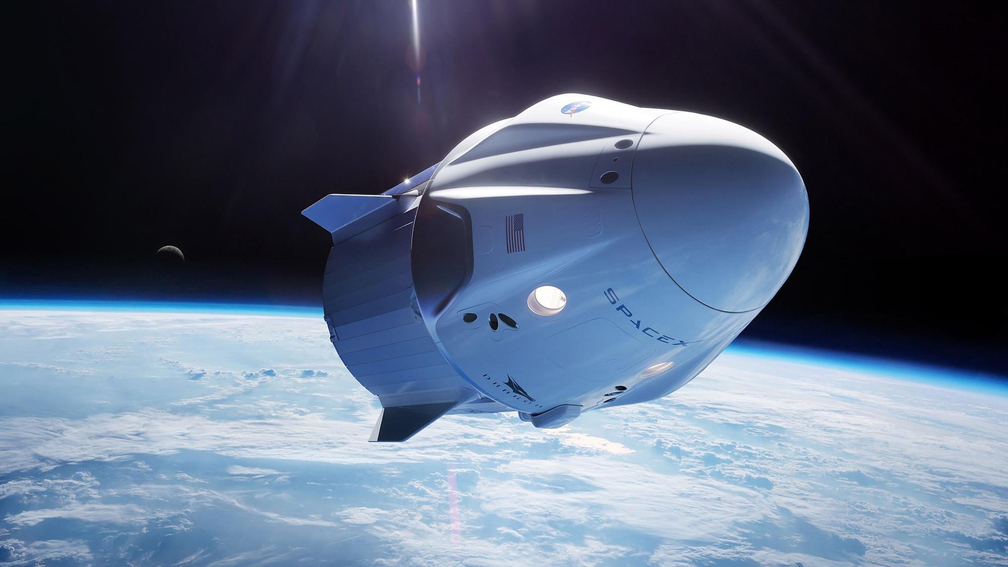 龙飞船 SpaceX官网 图