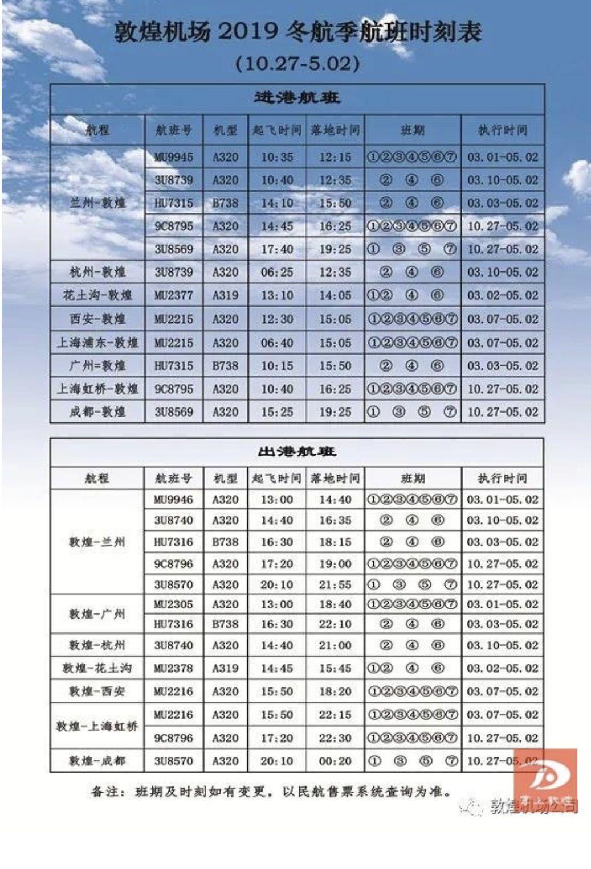 3月起敦煌机场将恢复全部国内航线航班图片