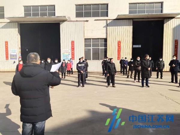"""姜堰娄庄镇商会""""硬核出击"""" 确保非公企业有序复工"""