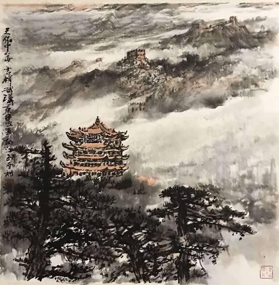 """钟南山、火神山、雷神山,著名画家胡江用山水画向""""三山""""致敬"""