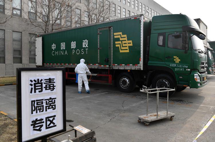 武汉进京邮件车辆、邮件需二次消毒|组图图片