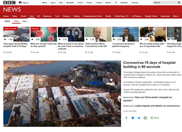 """国际媒体和各国网友热议抗击疫情""""中国速度""""和央企担当"""