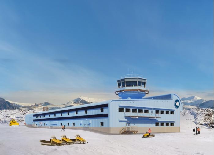 英国南极考察局在南极洲开工建设