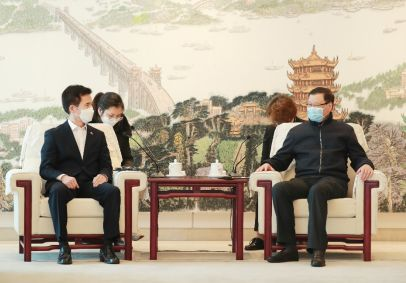 非常时期,湖北省委书记见了两个人图片