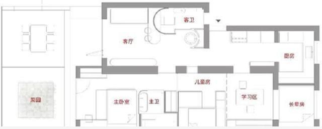 小夫妻改造50㎡学区房,仅收纳区域就占17㎡,住6人都无压力