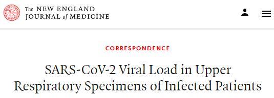 广东感染患者上呼吸道样本的SARS-CoV-2病毒载量