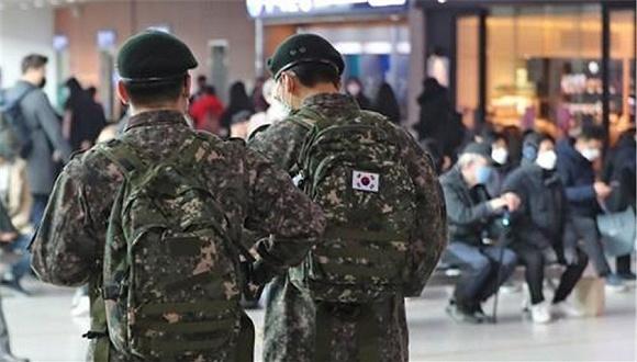 韩国军人。图片来源:韩联社
