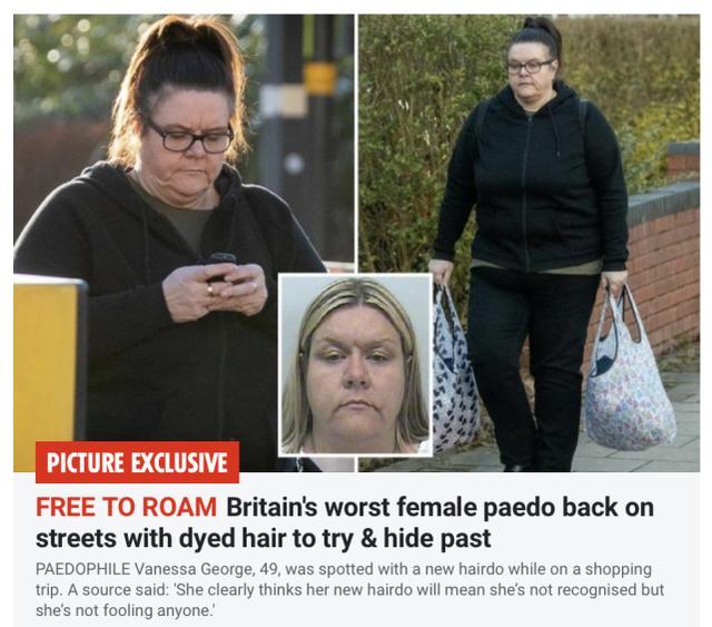 英最坏女人出狱后染发,怕被认出,曾是托儿所老师奸淫64名幼儿