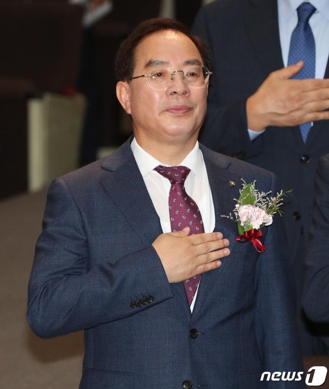 韩国教员团体总联合会会长河润秀(news 1)