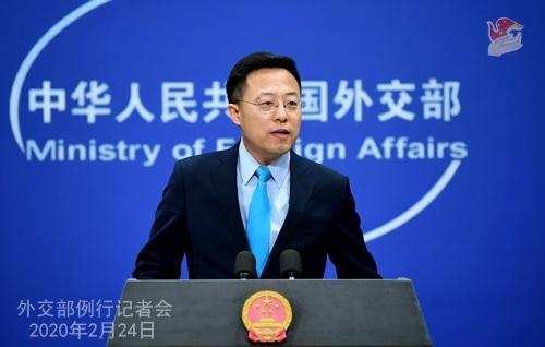 2月24日,外交部发言人赵立坚主持例行记者会。 来源:外交部网站
