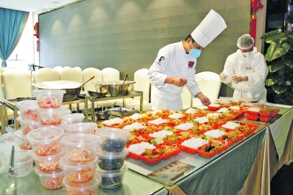七家餐饮企业 提供团餐服务