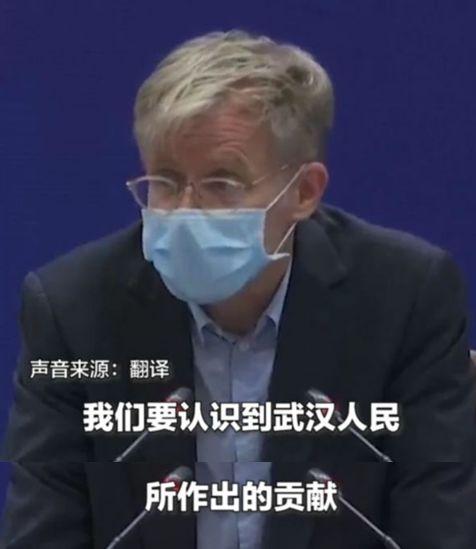 从武汉归来后 世卫组织专家的一句话感动中外网友图片