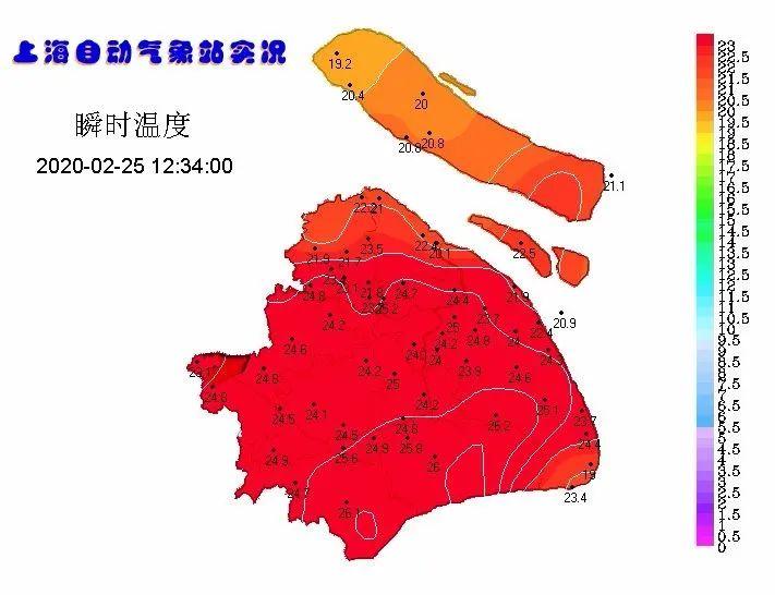 上海今天最高气温逼近25℃遭遇冷空气,明天骤降10℃图片
