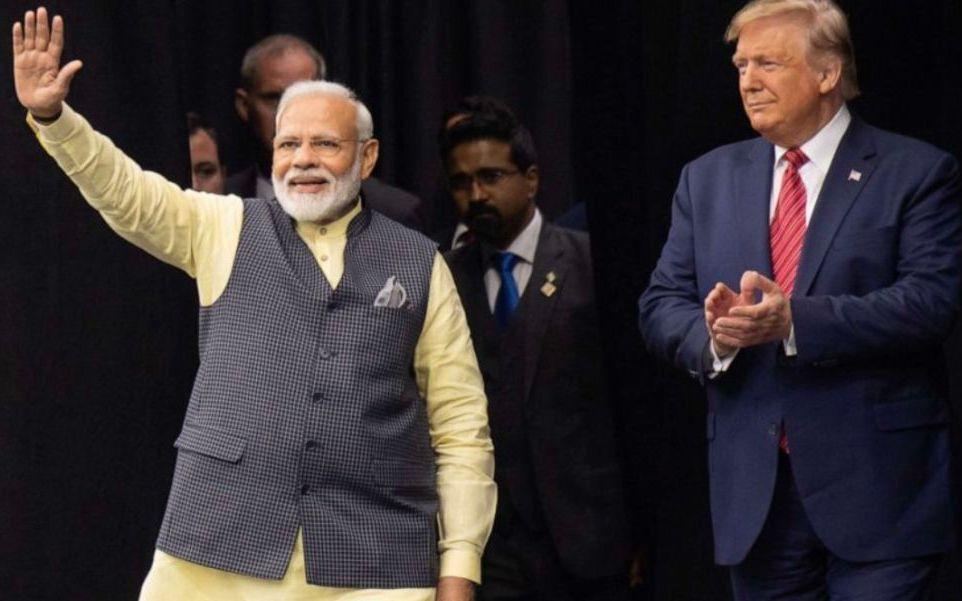 ▲特朗普首次访问印度。