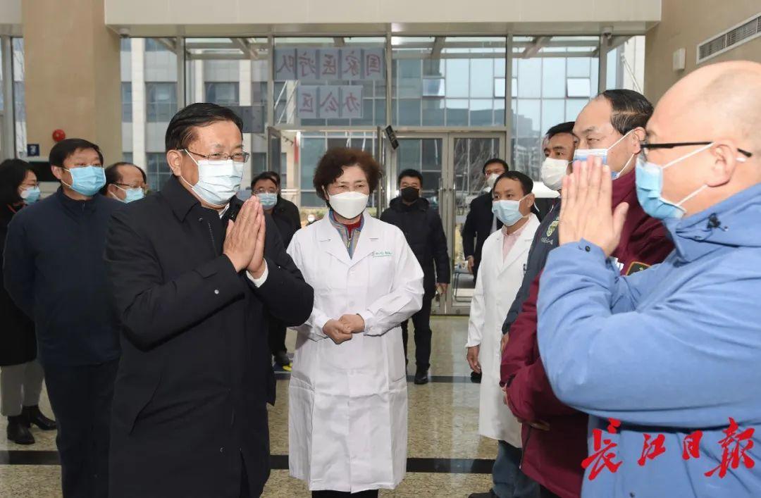 王忠林看望慰问王辰、李兰娟院士及援汉医疗队图片