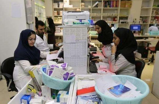 ▲伊朗首都德黑兰一家国营药房(法新社)
