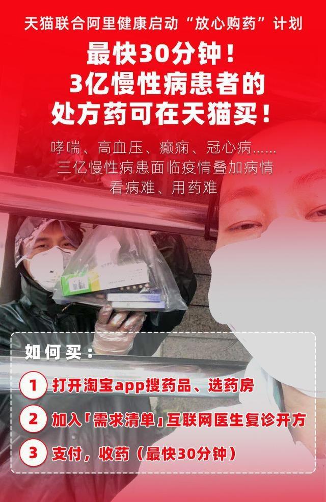 3亿慢性病患者可在天猫买处方药 南京病患最快30分钟可拿药