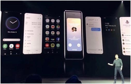 资料图 三星折叠屏手机Galaxy Fold 2019年2月 21日发布