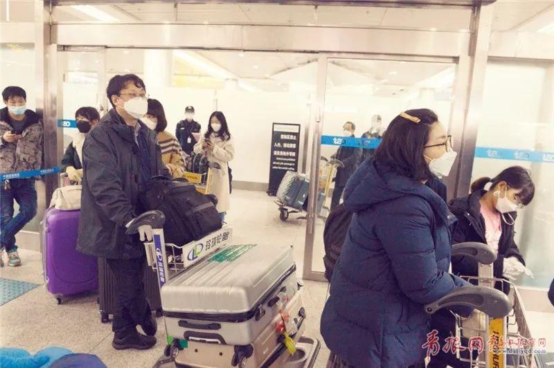 机场实探!首尔—青岛航班落地后的防疫一线图片