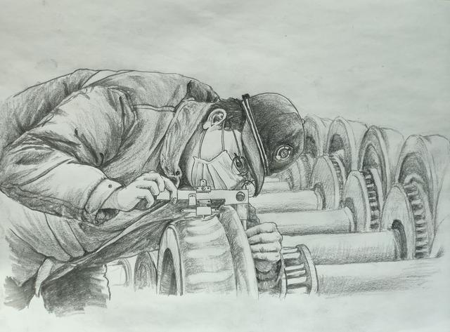 素描画走红!看动车机师笔下的铁路战疫人