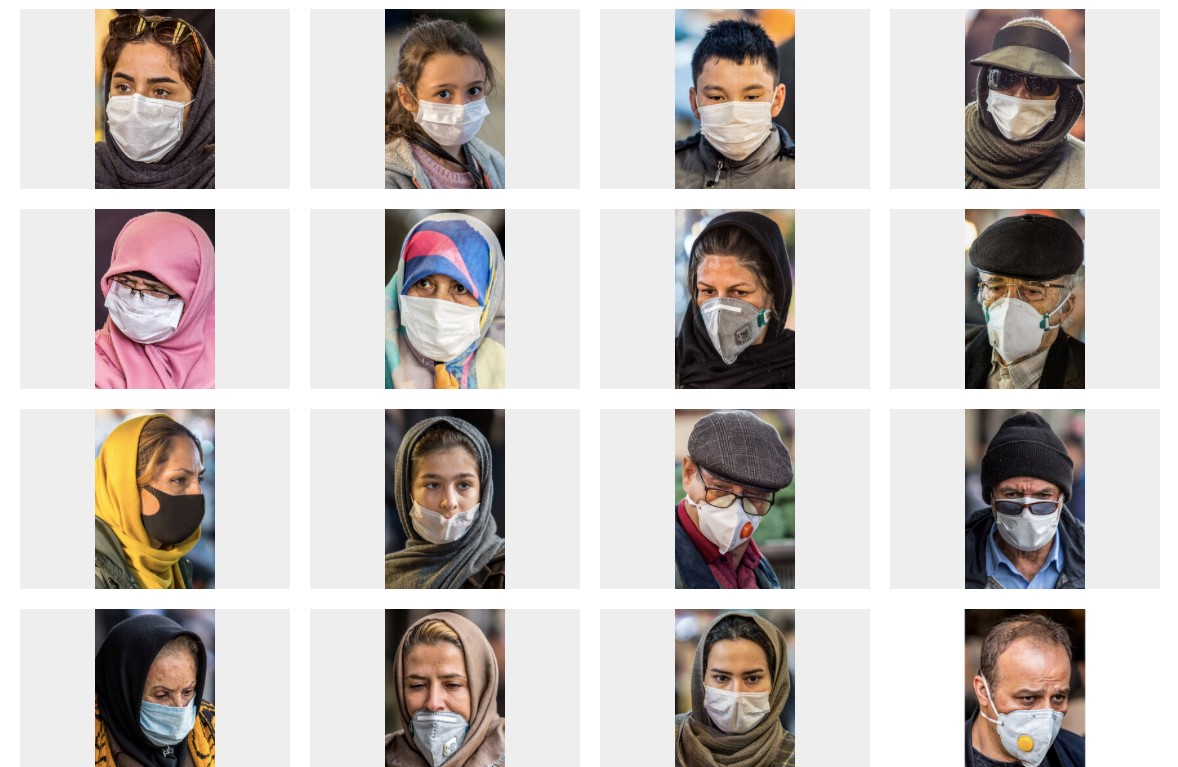 """伊朗学生通讯社发布的""""抗击新冠病毒""""照片集"""
