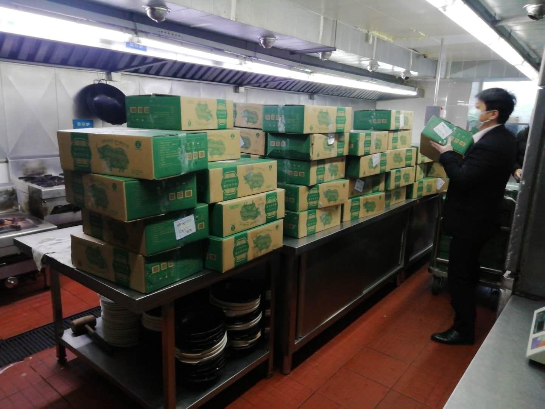 """西藏向武汉一线战""""疫""""医务工作者捐赠14.8吨物资图片"""