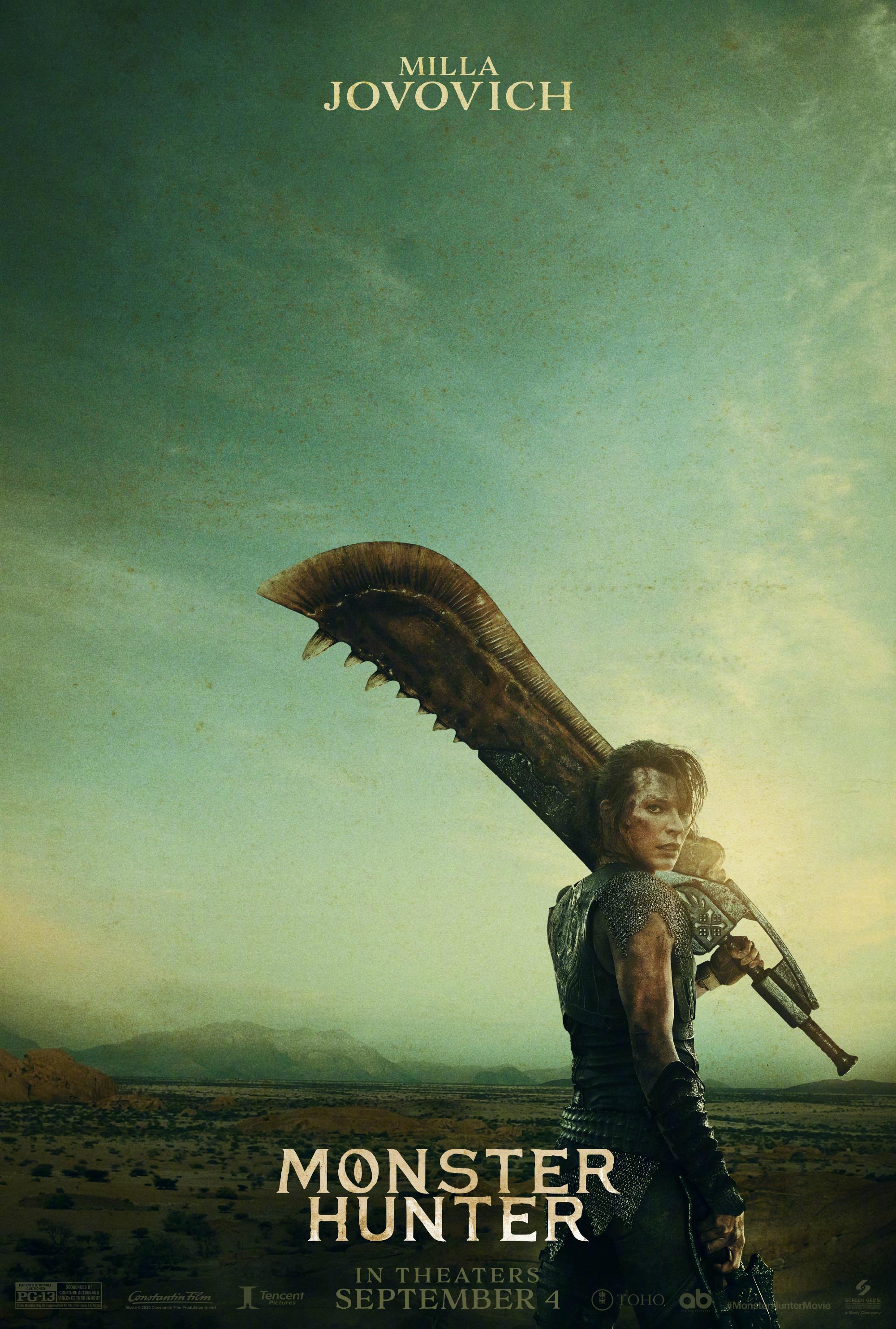 《怪物猎人》首曝海报,米拉·乔沃维奇与托尼·贾共进退图片