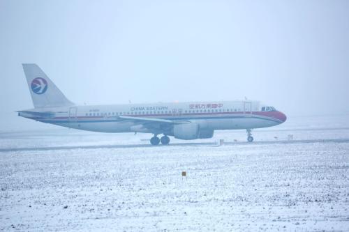 哈尔滨太平国际机场7架次航班因降雪延误