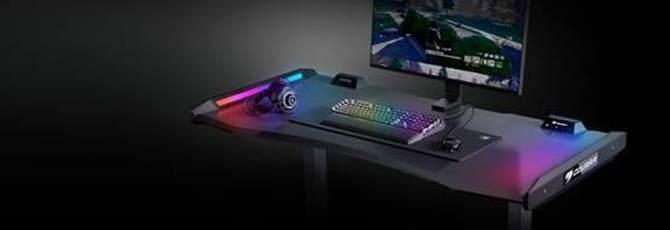 电竞迷们兴奋了 骨伽发布主打RGB灯效的MARS电脑桌