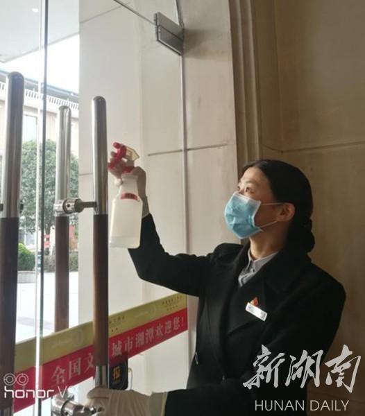 疫情当前 岳塘区华都国际大酒店显企业担当